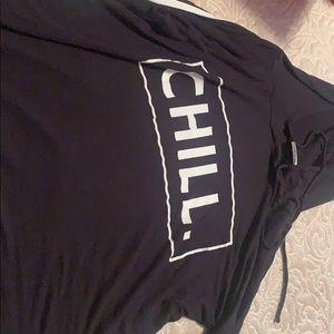 black/white shirt/hoodie